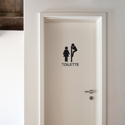 D coration porte toilettes for Porte toilette