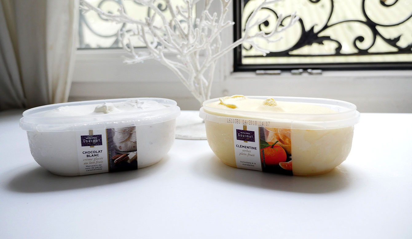 Crème glacée monoprix Gourmet