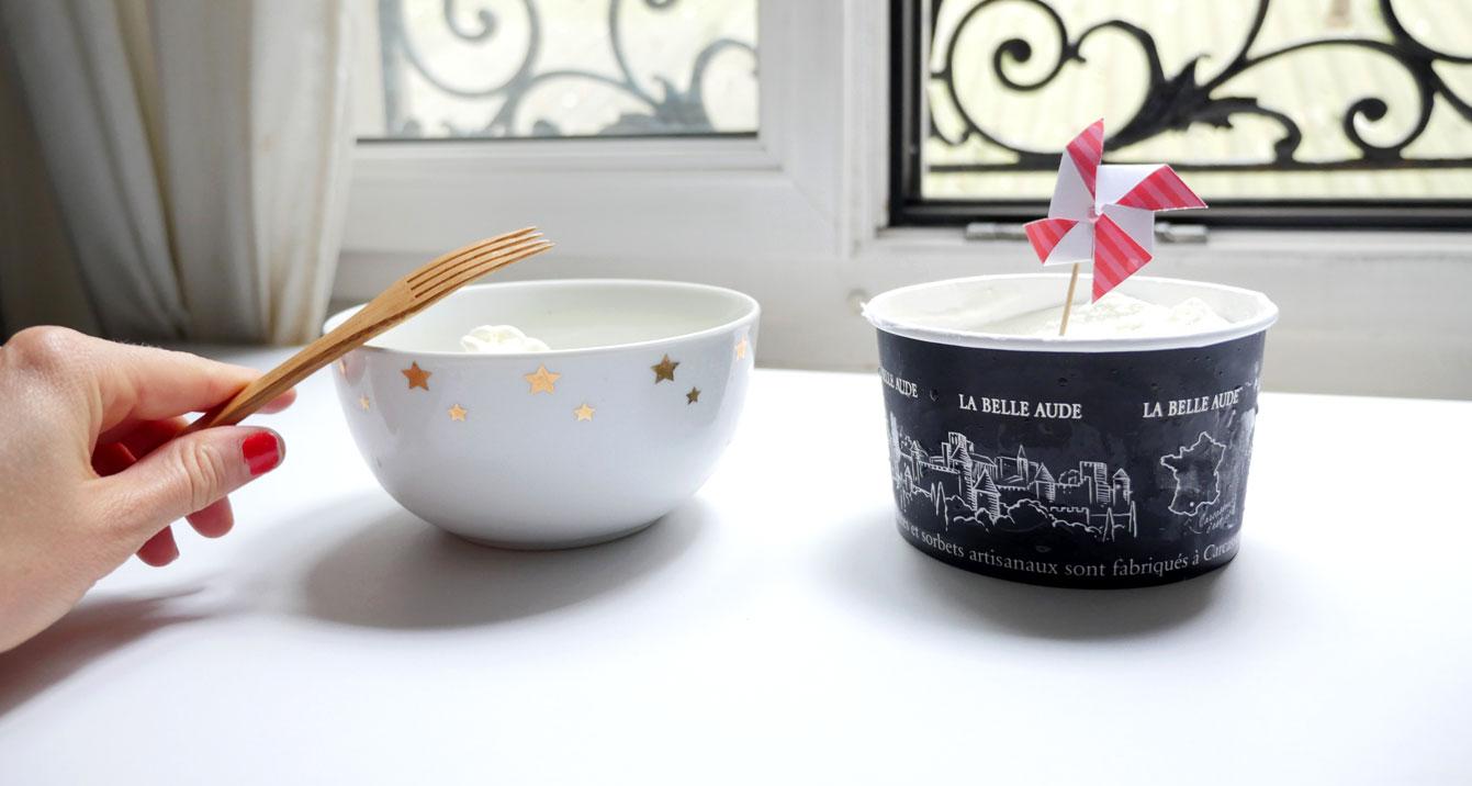 Glace au yaourt la Belle Aude