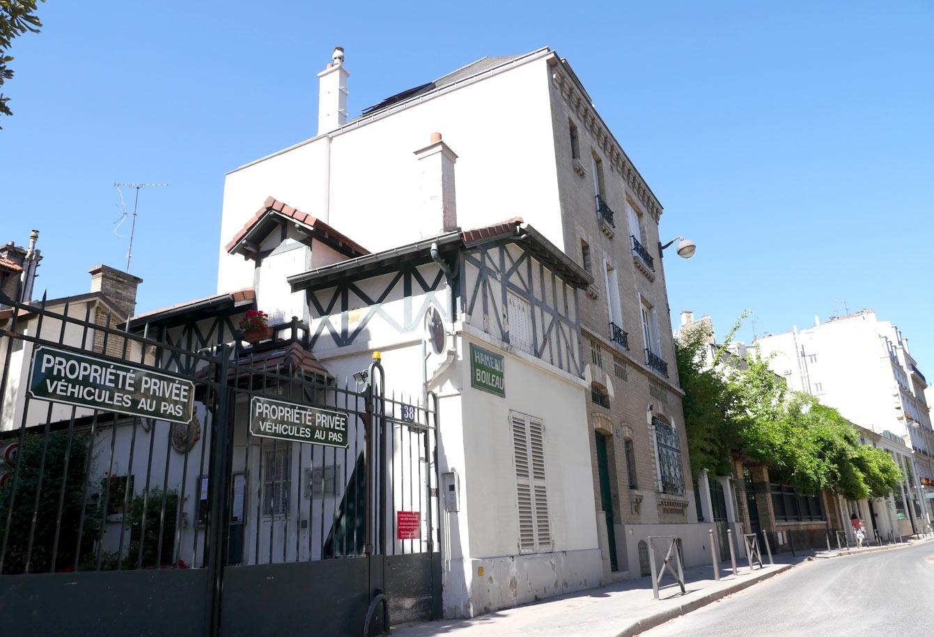 Entrée du hameau Boileau, Paris
