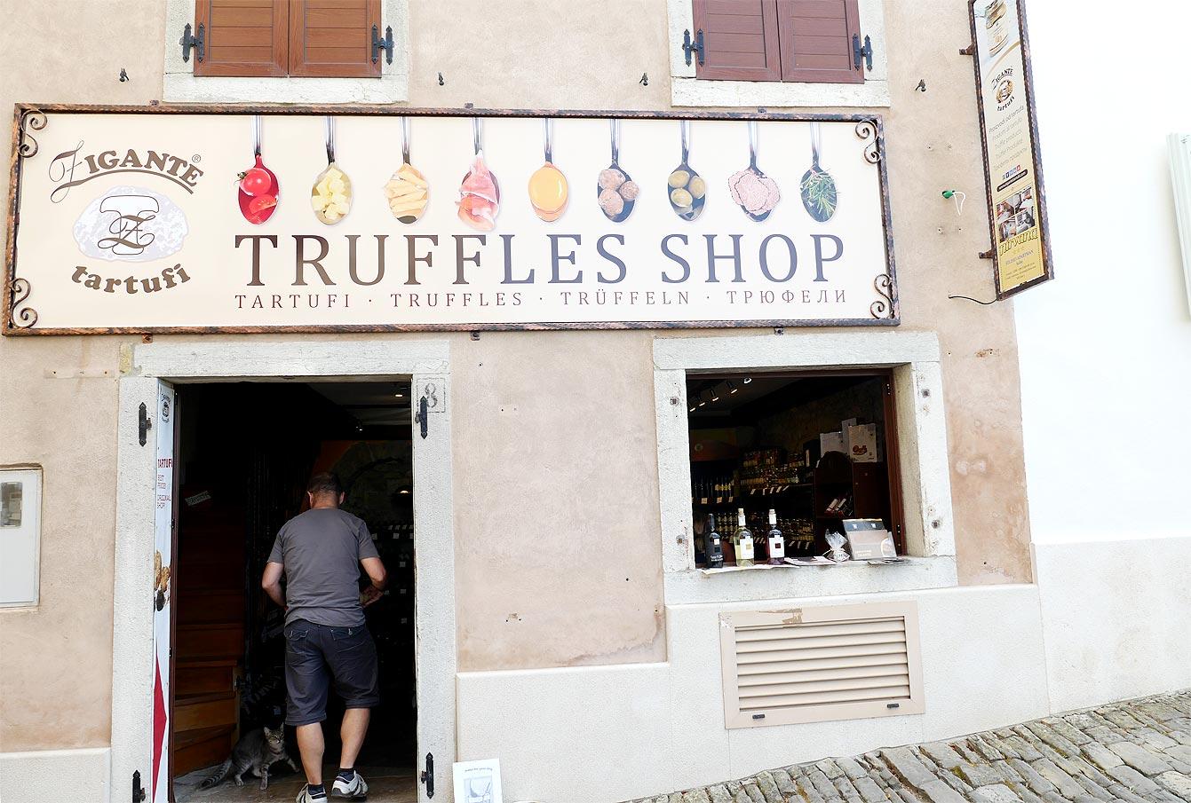 Boutique de truffes, Motovun, Croatie