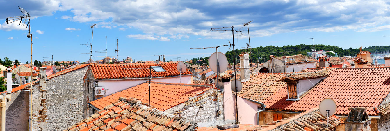 Toits de Rovinj, Croatie