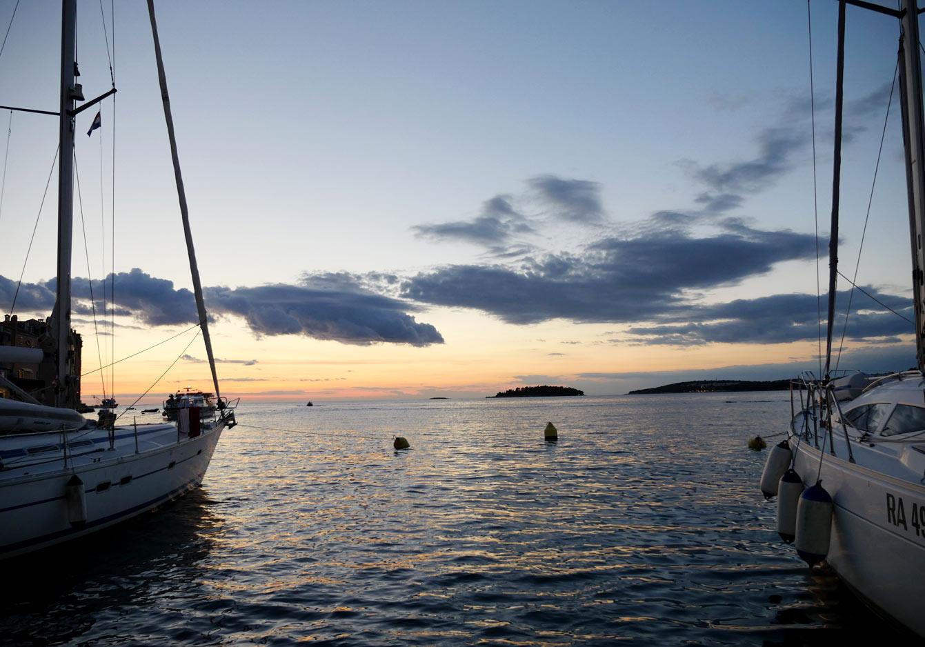 Port, Rovinj, Croatie