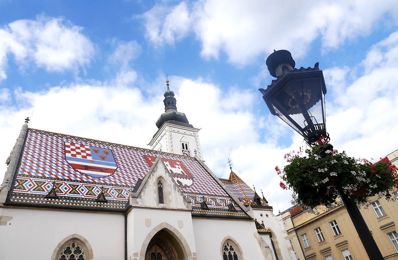 Église, Saint-Marc, Zagreb, Croatie