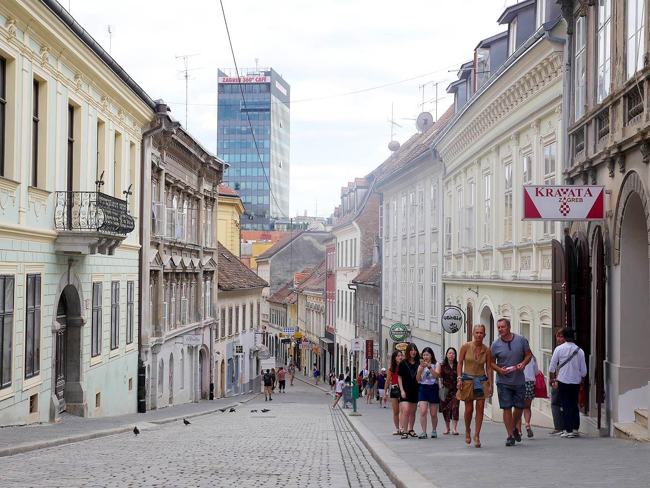 La ville haute, Zagreb, Croatie