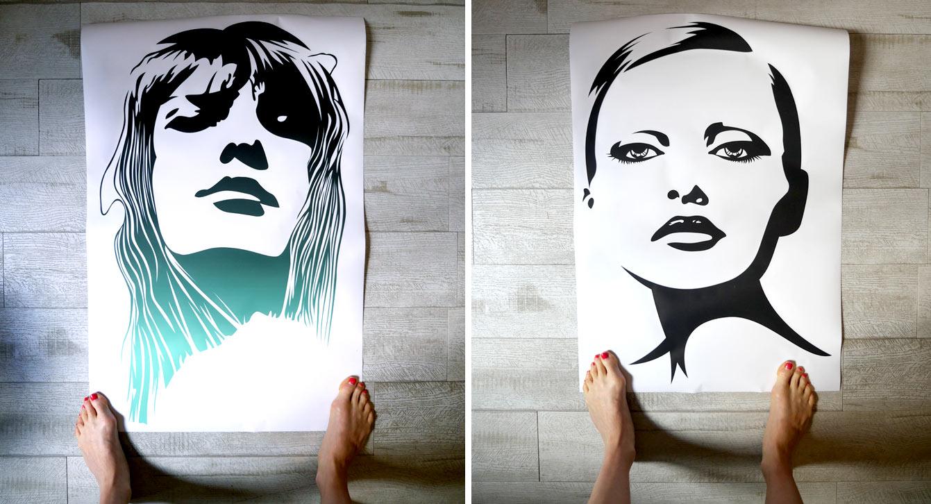 Sticker Pixers : portraits de femme