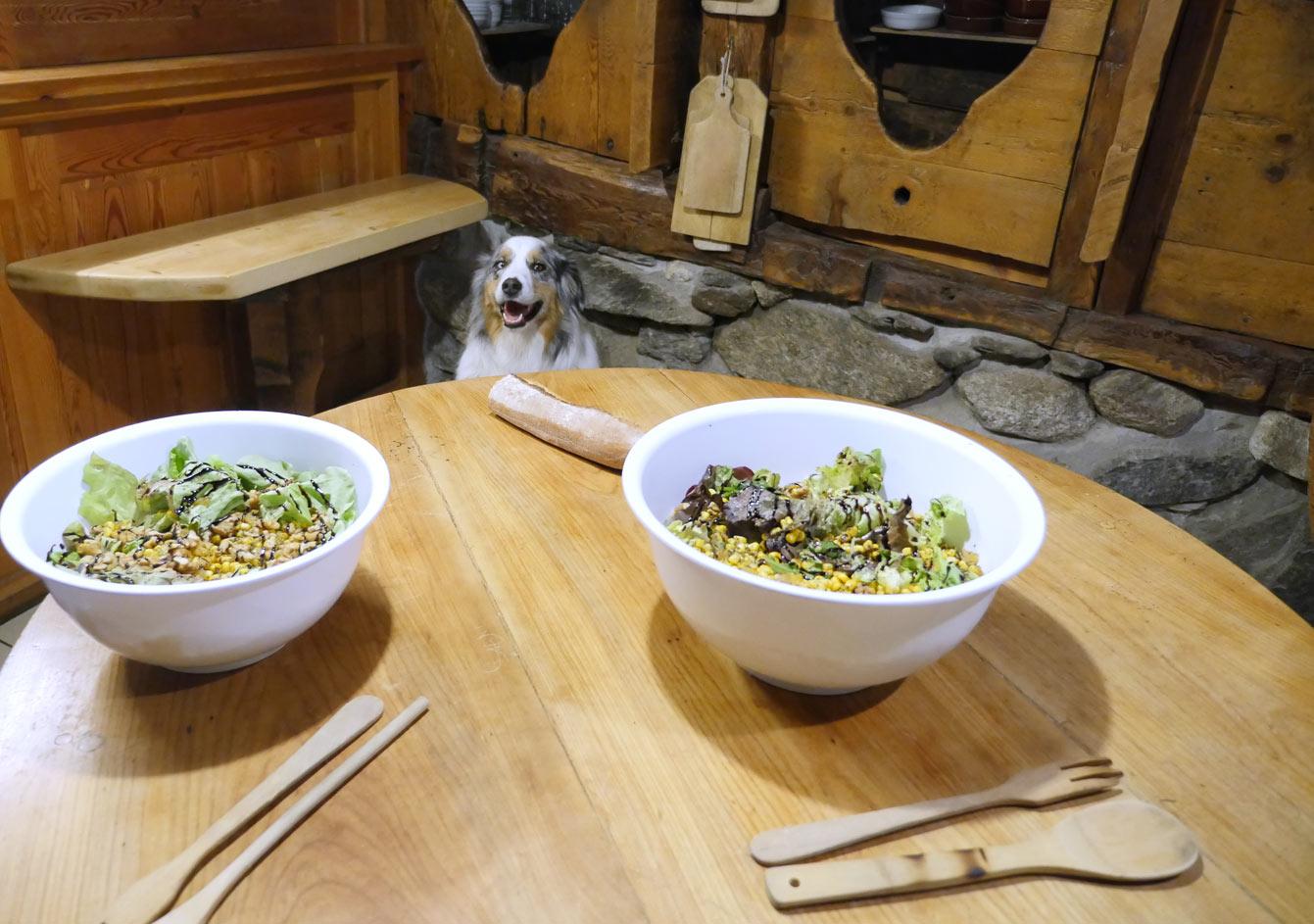 Déjeuner savoyard à l'auberge La Boerne, Chamonix