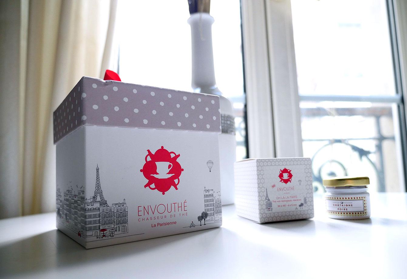 La Box de thé Envouthé Tea Tea parisien