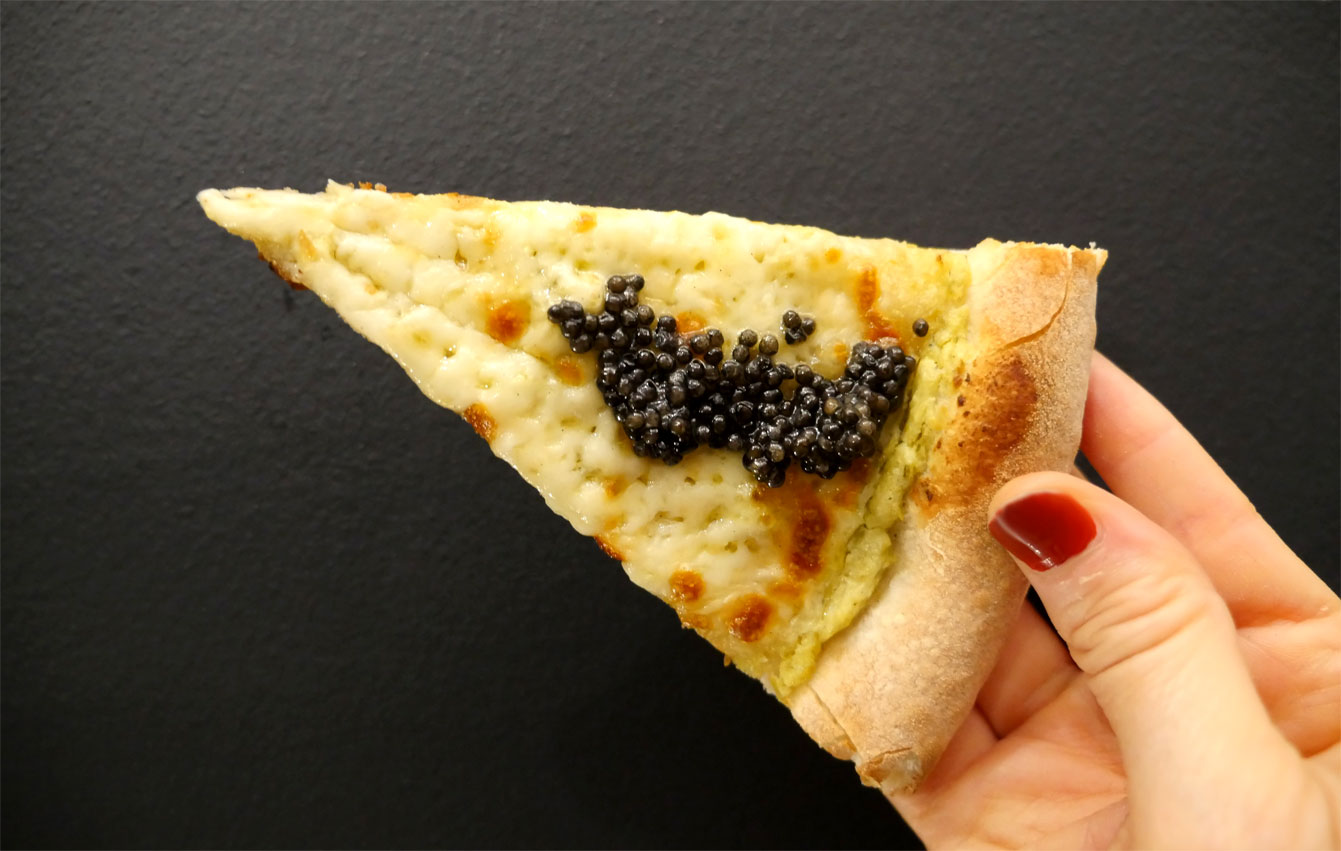 pizza Caviar avec Caviar de Neuvic