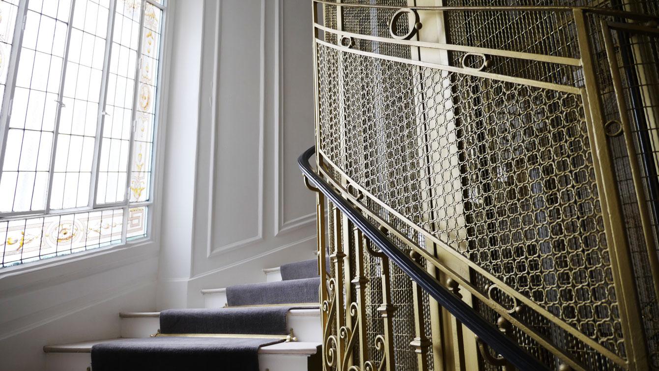 Cage d'escalier à Hôtel Vernet (Paris 8e)