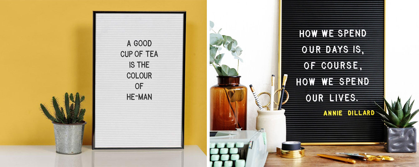 Déco : letter board