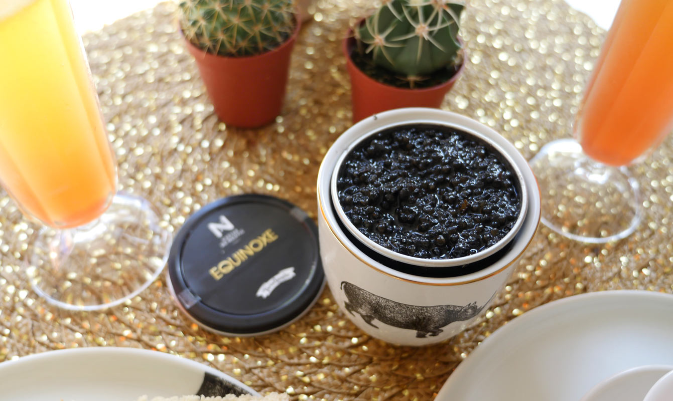 Equinoxe, Brunch au caviar de Neuvic à la truffe