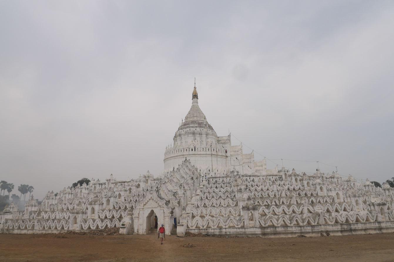 Hsinbyume Paya, monastère blanc dans la ville de Mingun, Mandalay, Myanmar