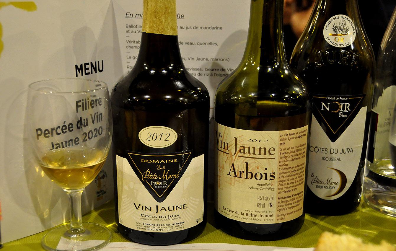 Vin jaune : côtes-du-Jura et Arbois
