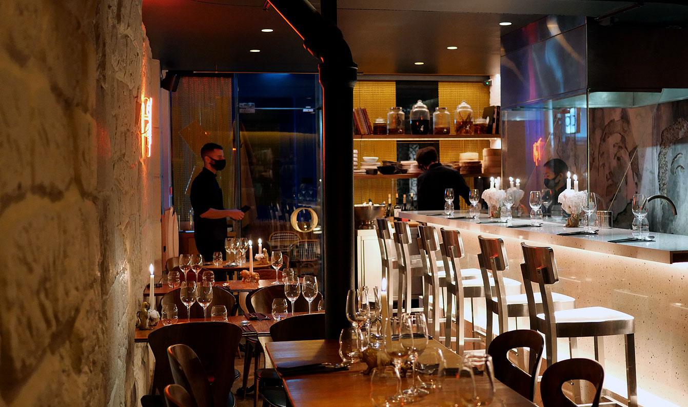 Restaurant Mister T, la salle (Paris 3e)