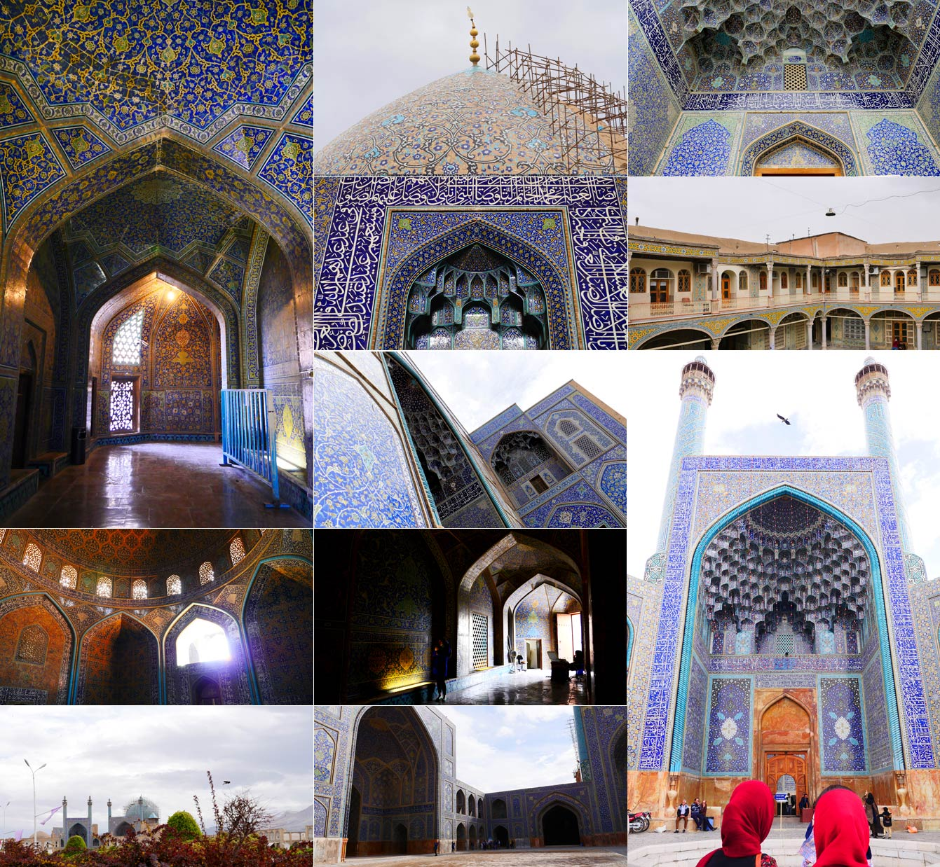 Isfahan, Iran, mosquée bleue