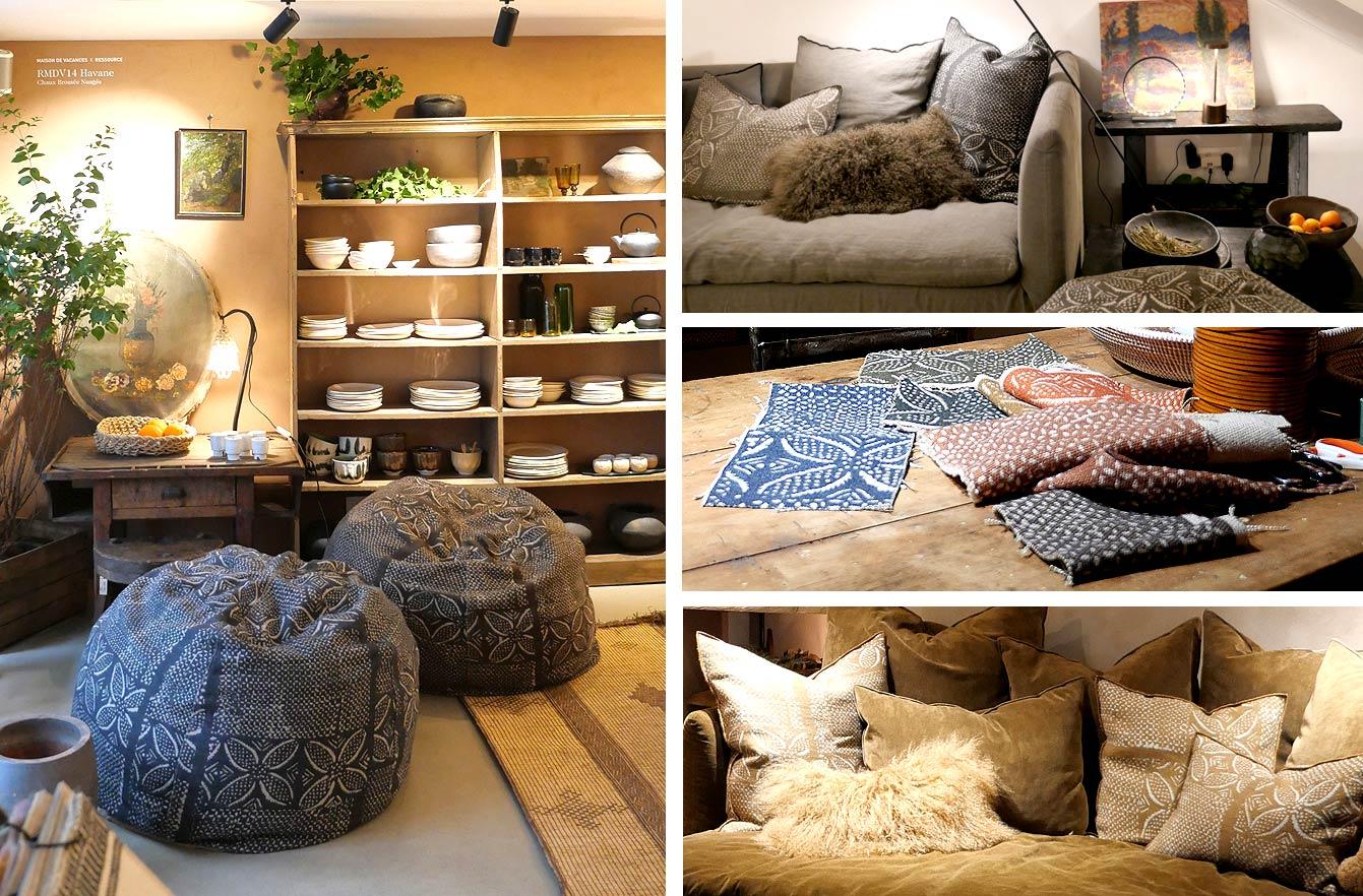 La boutique déco Maison de Vacances lance deux nouvelles collections printemps-été 2021: ici Bogolan