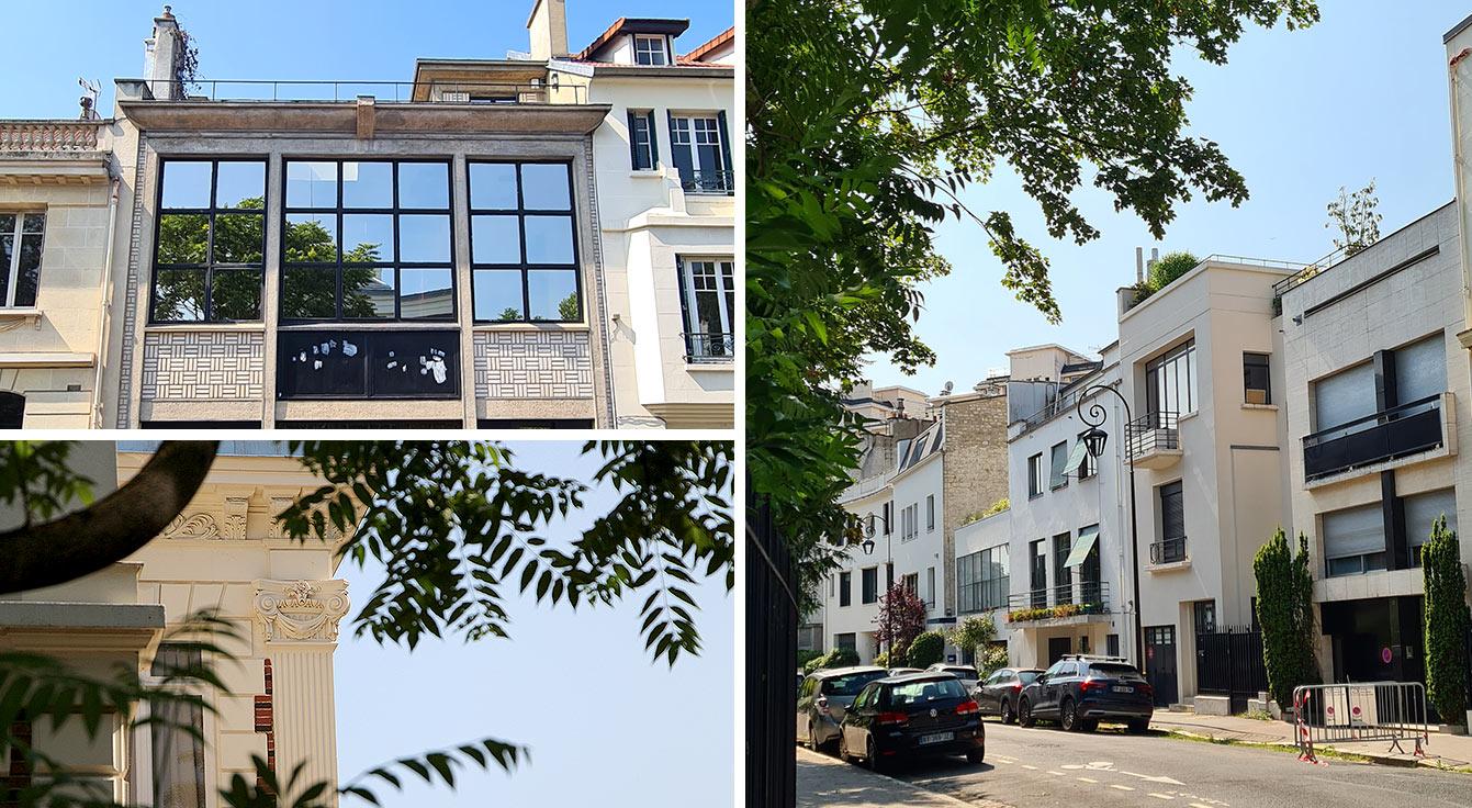 Autour des 21 et 25 rue du Belvédère - Un village d'artistes modernes