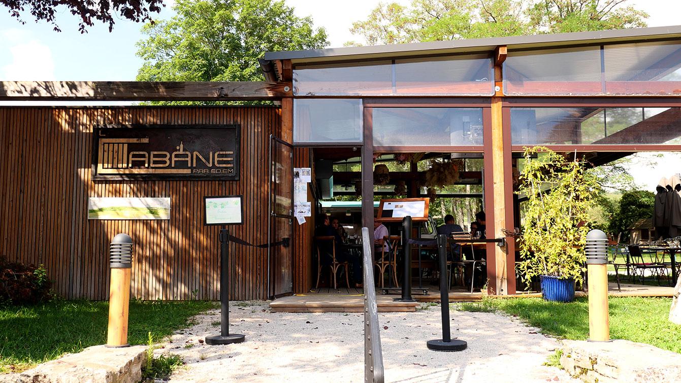 restaurant la Cabane, à Chassagne-Montrachet
